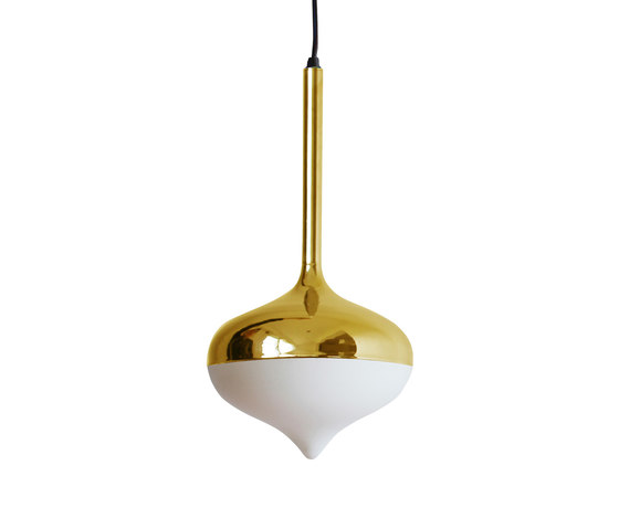 Spun Small Pendant Lamp Gold by Evie Group | General lighting