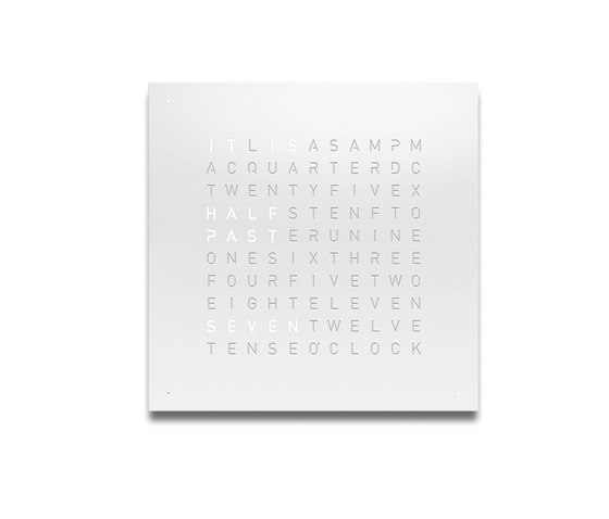 QLOCKTWO® CLASSIC – POWDER COATED White Pepper by BIEGERT&FUNK | Clocks