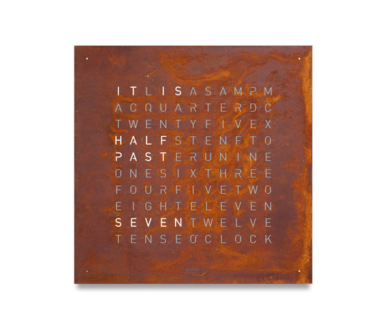 QLOCKTWO® CLASSIC CREATOR'S EDITION Rust by BIEGERT&FUNK | Clocks