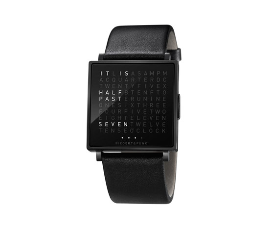 QLOCKTWO® W Black di BIEGERT&FUNK | Wrist watches