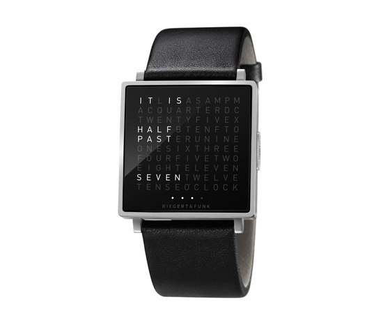 QLOCKTWO® W Brushed by BIEGERT&FUNK | Wrist watches