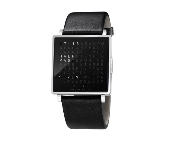 QLOCKTWO® W Polished by BIEGERT&FUNK | Wrist watches