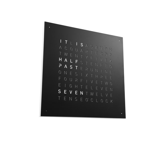 QLOCKTWO® CLASSIC – POWDER COATED Black Pepper by BIEGERT&FUNK | Clocks