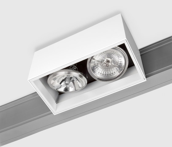 Prologe 145 on-Regule Double/Fluo Dimmable by Kreon | Track lighting