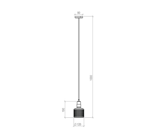 Riddle Pendant Lamp di Bert Frank | Lampade sospensione