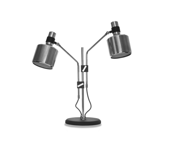 Riddle Table Lamp Black & Chrome by Bert Frank | General lighting