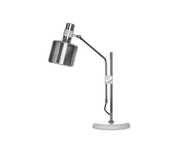 Riddle Table Lamp Single White & Chrome von Bert Frank | Allgemeinbeleuchtung
