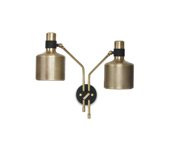 Riddle Wall light Black & Brass by Bert Frank | General lighting