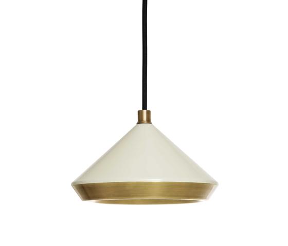 Shear Pendant White & Brass by Bert Frank | General lighting