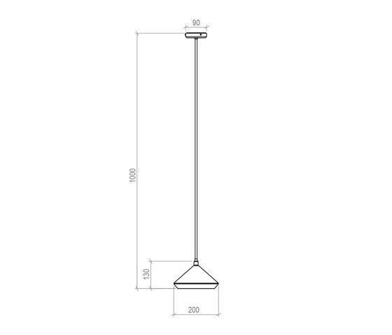 Shear Pendant Lamp by Bert Frank   General lighting