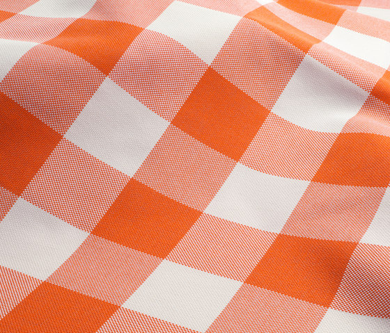 NIZZA-CHECK - 94 ORANGE by Nya Nordiska | Outdoor upholstery fabrics