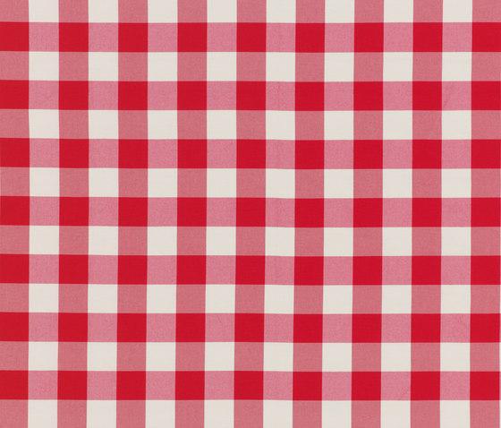 NIZZA-CHECK - 97 RED by Nya Nordiska   Outdoor upholstery fabrics
