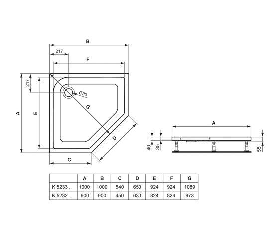 washpoint f nfeck brausewanne 90 x 90 cm von ideal. Black Bedroom Furniture Sets. Home Design Ideas