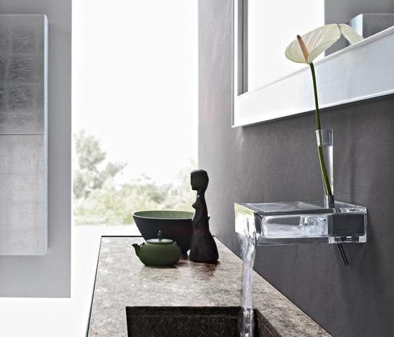 Glass tap-shelf by Toscoquattro | Wash basin taps