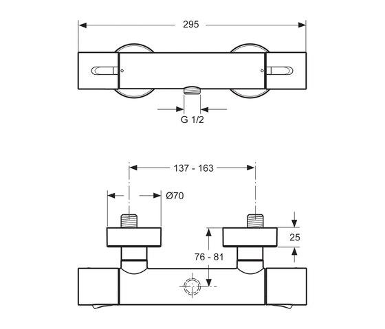 celia brausethermostat ap aufputz duscharmaturen von ideal standard architonic. Black Bedroom Furniture Sets. Home Design Ideas