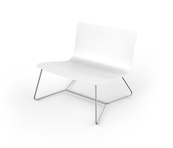 Slim Lounge Chair stackable by Viteo | Garden armchairs