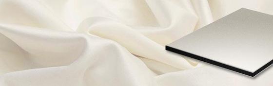 ALUCOBOND® Sparkling | Ivory Silver 885 von 3A Composites | Bleche / -paneele