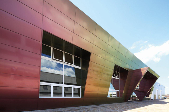 Alucobond spectra and sparkling colours facades by 3a for Aluminium composite panel interior decoration