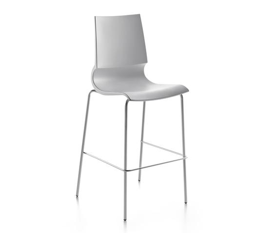 Ricciolina High stool polypropylene by Maxdesign | Bar stools