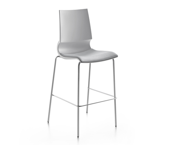 Ricciolina High stool with seat cushion by Maxdesign | Bar stools