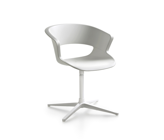 Zed swivel base in polypropylene by Maxdesign | Visitors chairs / Side chairs