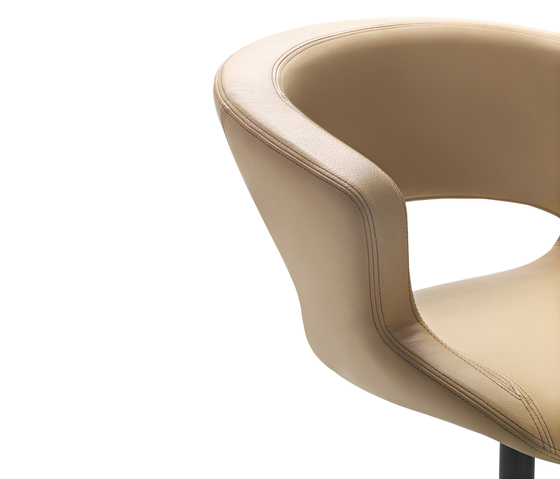 Zed swivel base upholstered by Maxdesign | Visitors chairs / Side chairs
