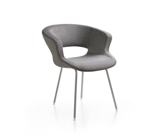 Zed 4 legs upholstered by Maxdesign | Restaurant chairs