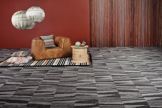 Missoni Flame Black by Bolon | Wall-to-wall carpets
