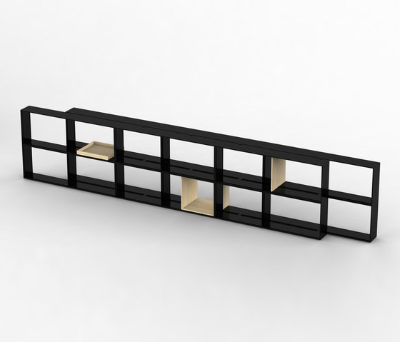 Offset Shelf by Maxdesign | Office shelving systems