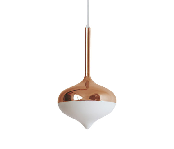 Spun Small Pendant Lamp Rose Gold by Evie Group | General lighting