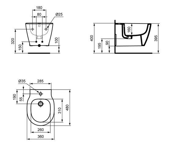 Connect Space Wandbidet kompakt by Ideal Standard | Bidets