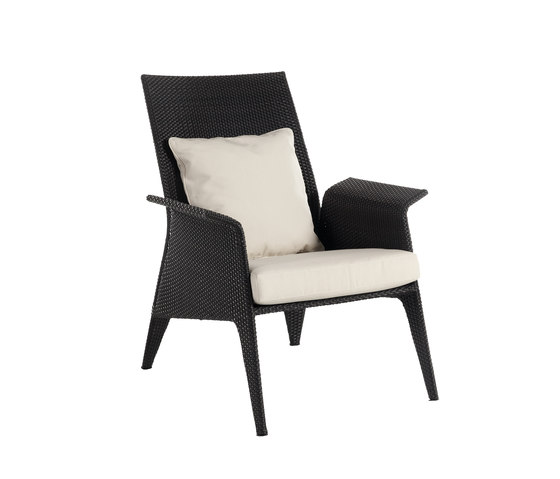 U high back armchair di Point | Poltrone da giardino