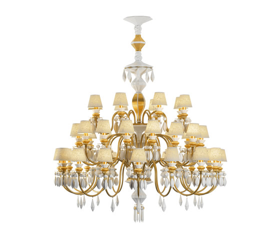 Belle de Nuit - Chandelier (gold) by Lladró | Ceiling suspended chandeliers