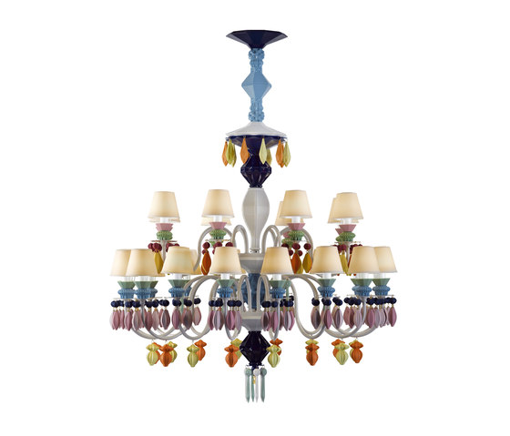 Belle de Nuit - Chandelier (multicolor) by Lladró | Ceiling suspended chandeliers
