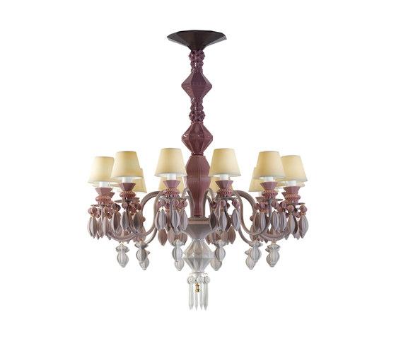 Belle de Nuit - Chandelier (pink) by Lladró | Ceiling suspended chandeliers