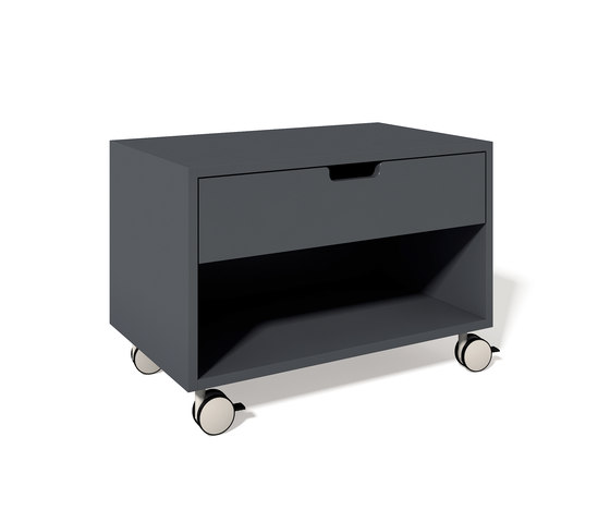 Stacking bed bedside table laquered by Müller Möbelwerkstätten | Night stands
