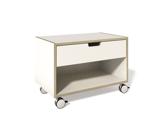 Stacking bed bedside table CPL white by Müller Möbelwerkstätten | Night stands