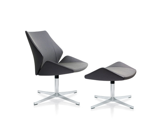 4+ Lounge chair & stool by Züco | Lounge chairs