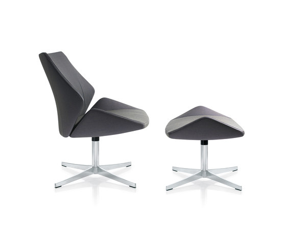 4+ Lounge chair & stool by Züco | Armchairs