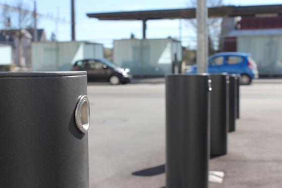 Public Bollard removable barrier post – low-floor bollards by BURRI | Bollards