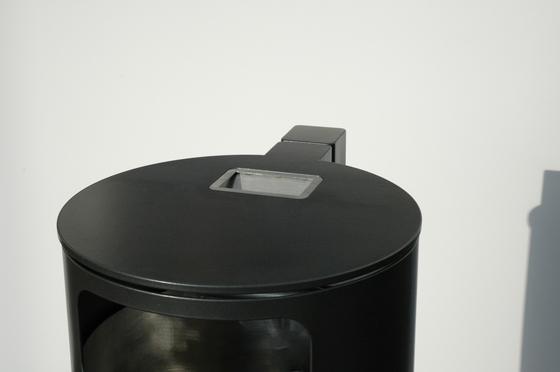 Public bin with ashtray by BURRI   Exterior bins