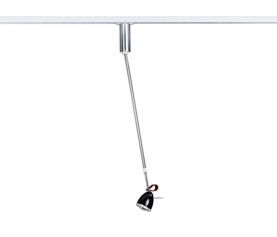 Ylux ceiling light with 3-phase adapter by less'n'more | Pendant lights in aluminium