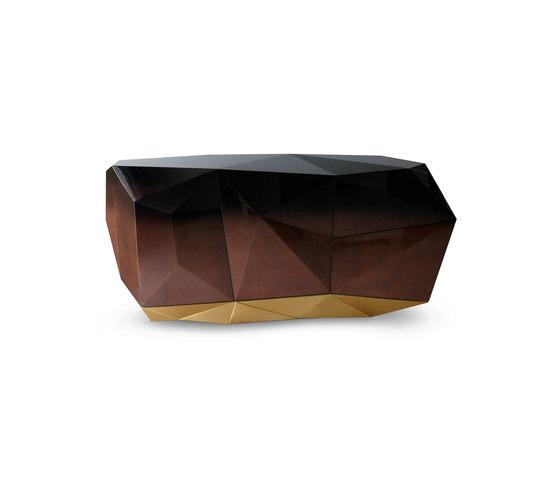 Diamond chocolate sideboard di Boca do lobo | Credenze