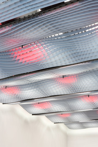 WAVE Acoustic absorber ceiling by Wave | Ceiling systems