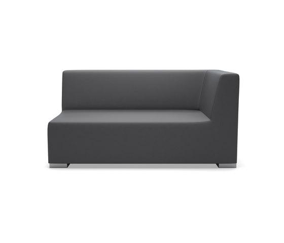 Block 80 Corner 1 Seater de Design2Chill | Éléments de sièges modulables