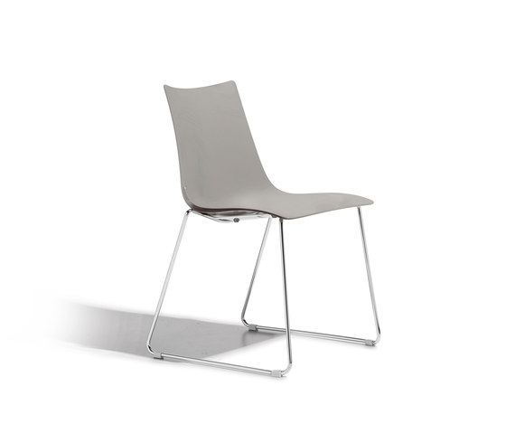 Zebra Tecnopolimero with sledge frame by Scab Design | Multipurpose chairs