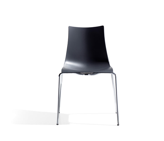Zebra Tecnopolimero with 4-leg frame by Scab Design | Multipurpose chairs