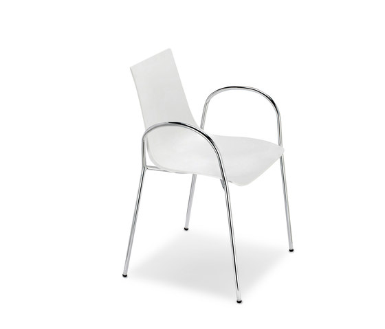 Zebra Tecnopolimero with armrests by Scab Design | Multipurpose chairs