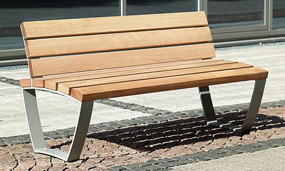 Cado levis Bench short 1,55 m with backrest de Westeifel Werke | Bancos