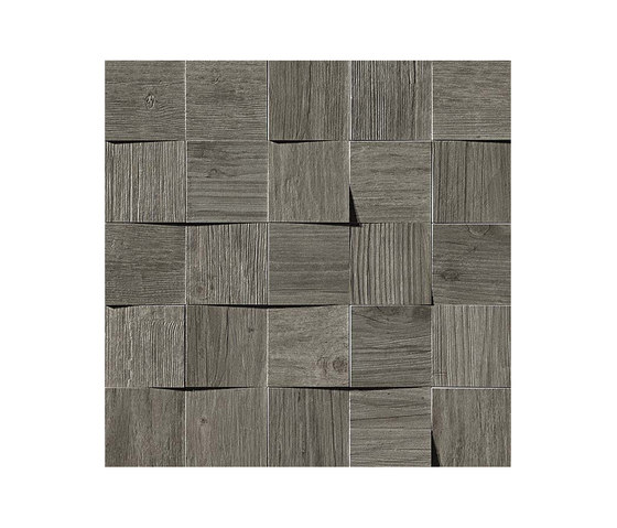Axi Grey Timber Mosaico 3D by Atlas Concorde | Tiles